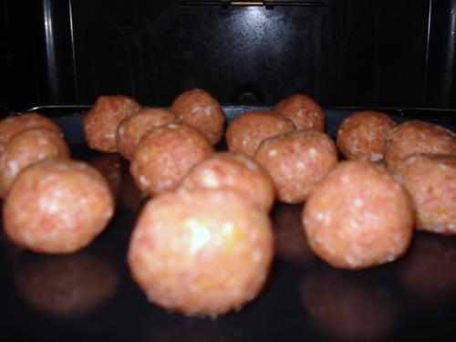 Fleischbällchen für das Meatball Sub