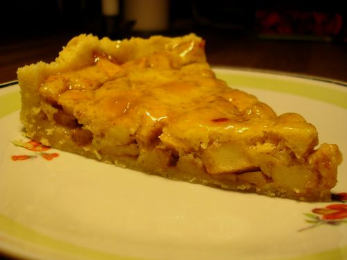 Appeltaart: Apfelkuchen auf holländisch mit einem Schuss Rum