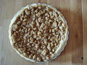 Der bekannte Pumpkin Pie mal anders: Mit knusprigen Walnuss-Streuseln