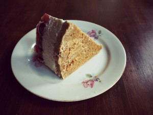 Keksboden des Strawberry Cheesecake aus Dinkel-Butterkeksen