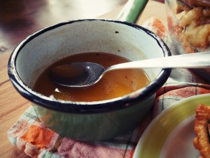 Gebackene Aubergine: am besten schmeckts mit der Honig-Sherry-Soße